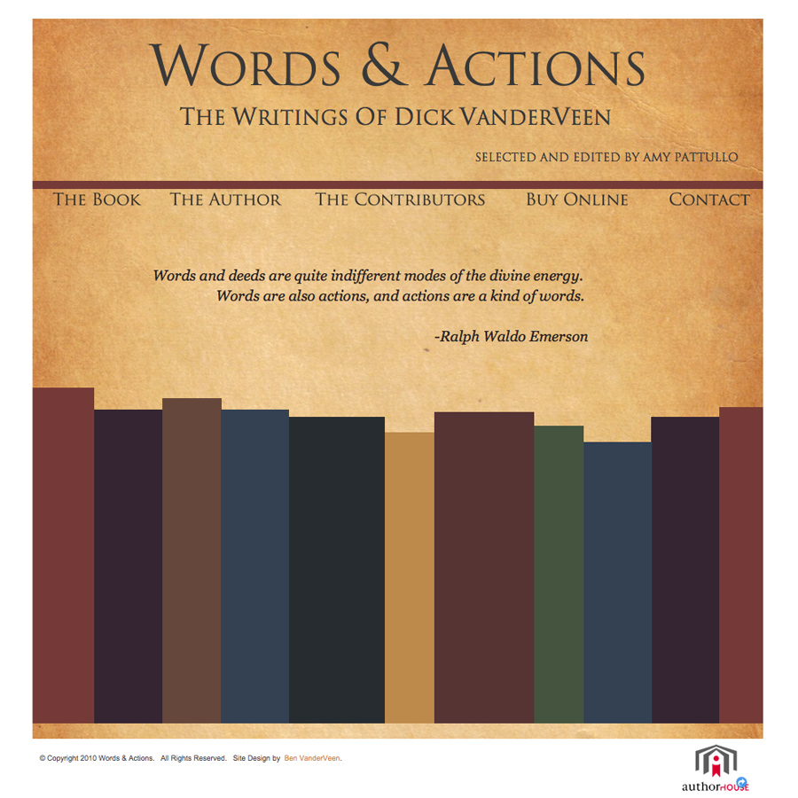 Words & Actions web screenshot